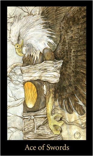 ý nghĩa lá Ace of Swords trong bộ bài Mary-el Tarot