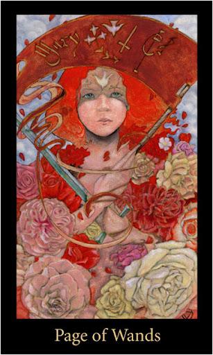 ý nghĩa lá Page of Wands trong bộ bài Mary-el Tarot