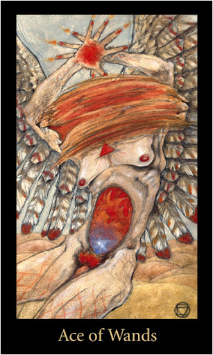 ý nghĩa lá Ace of Wands trong bộ bài Mary-el Tarot