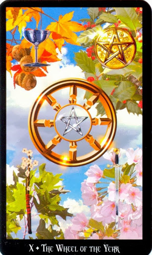 Ý nghĩa lá The Wheel of The Year trong bộ bài Witches Tarot