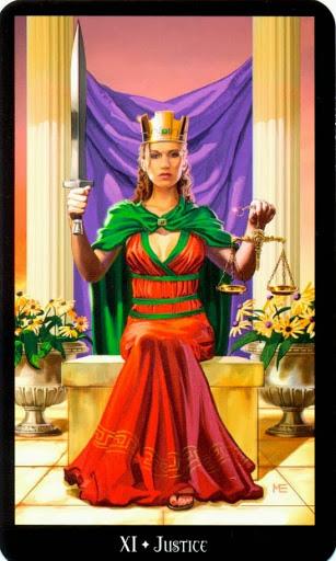 Ý nghĩa lá Justice trong bộ bài Witches Tarot