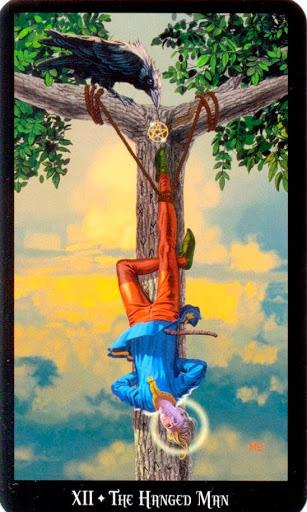 Ý nghĩa lá The Hanged Man trong bộ bài Witches Tarot