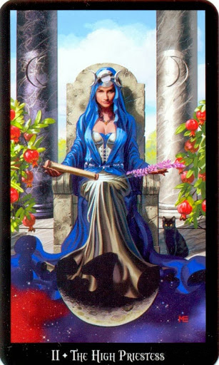 Lá The High Priestess – Witches Tarot