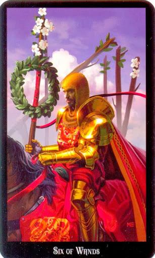 Ý nghĩa lá Six of Wands trong bộ bài Witches Tarot