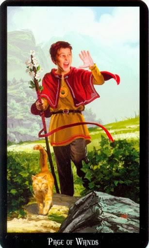 Ý nghĩa lá Page of Wands trong bộ bài Witches Tarot