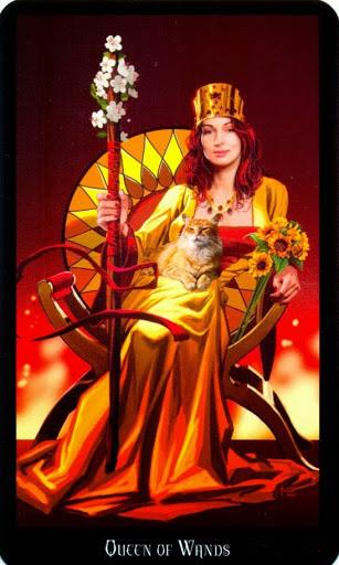 Ý nghĩa lá Queen of Wands trong bộ bài Witches Tarot