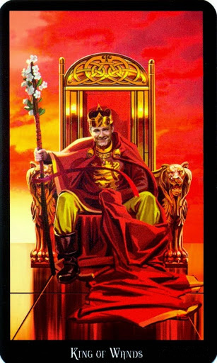 Ý nghĩa lá King of Wands trong bộ bài Witches Tarot
