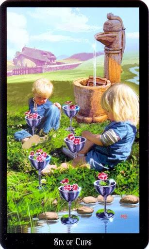Ý nghĩa lá Six of Cups trong bộ bài Witches Tarot