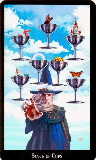 Ý nghĩa lá Seven of Cups trong bộ bài Witches Tarot