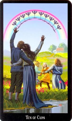 Ý nghĩa lá Ten of Cups trong bộ bài Witches Tarot