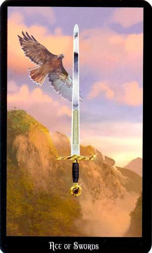 Ý nghĩa lá Ace of Swords trong bộ bài Witches Tarot
