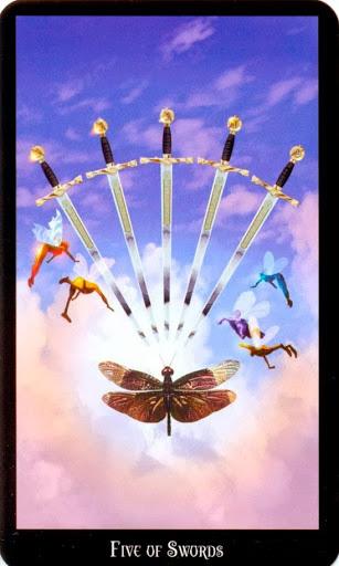 Ý nghĩa lá Five of Swords trong bộ bài Witches Tarot