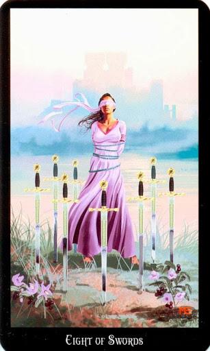 Ý nghĩa lá Eight of Swords trong bộ bài Witches Tarot
