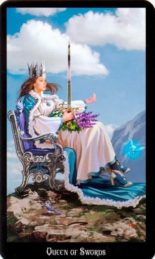 Ý nghĩa lá Queen of Swords trong bộ bài Witches Tarot