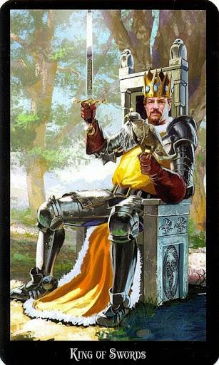 Ý nghĩa lá King of Swords trong bộ bài Witches Tarot