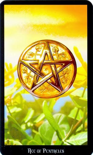 Ý nghĩa lá Ace of Pentacles trong bộ bài Witches Tarot
