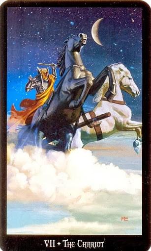 Ý nghĩa lá The Chariot trong bộ bài Witches Tarot