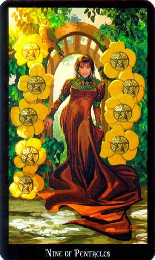 Ý nghĩa lá Nine of Pentacles trong bộ bài Witches Tarot