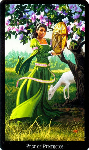 Lá Page of Pentacles – Witches Tarot