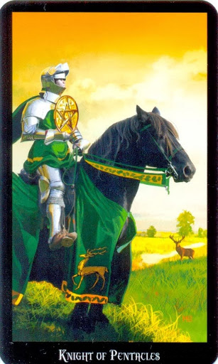 Ý nghĩa Lá Knight of Pentacles trong Witches Tarot