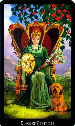 Ý nghĩa lá Queen of Pentacles trong bộ bài Witches Tarot