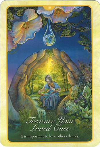 Ý nghĩa lá 10. Treasure Your Loved Ones trong bộ bài Whispers of Love Oracle Cards