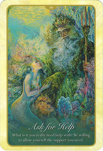 Ý nghĩa lá 14. Ask For Help trong bộ bài Whispers of Love Oracle Cards
