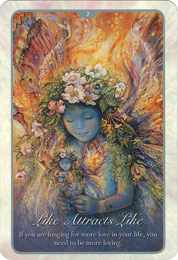 Ý nghĩa lá 2. Like Attracts Like trong bộ bài Whispers of Love Oracle Cards