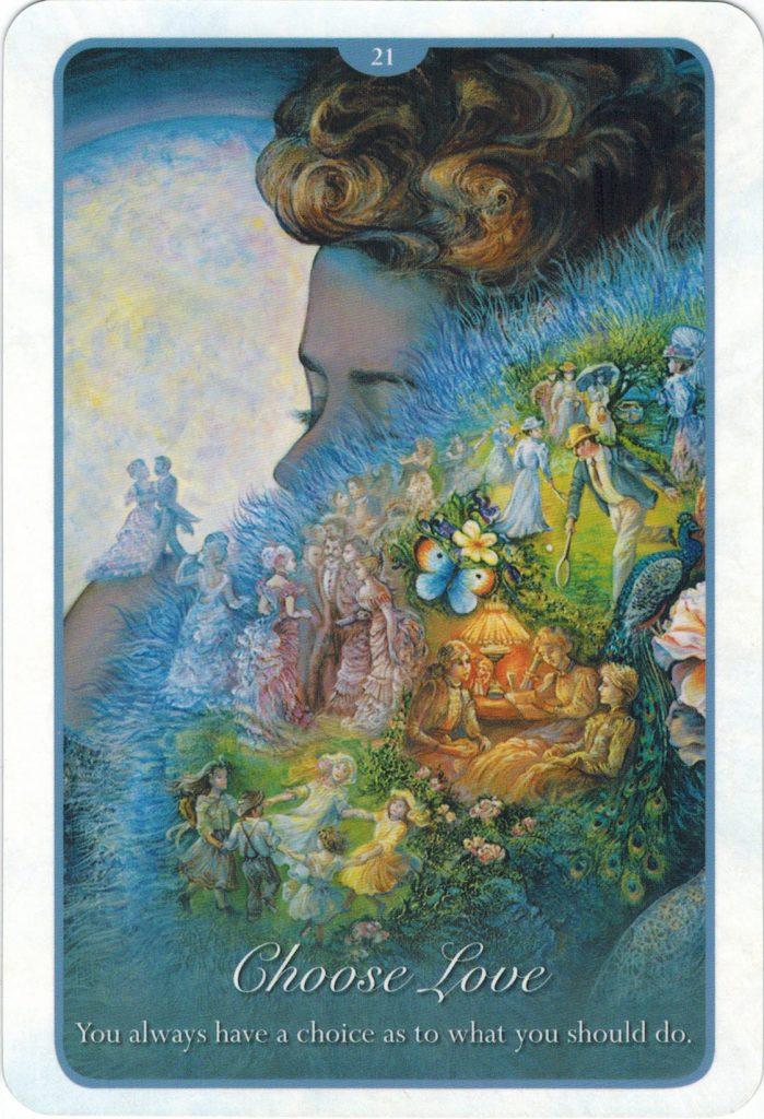 Ý nghĩa lá 21. Choose Love trong bộ bài Whispers of Love Oracle Cards