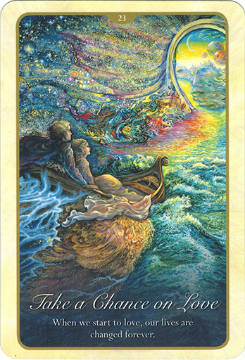 Ý nghĩa lá 23. Take A Chance On Love trong bộ bài Whispers of Love Oracle Cards
