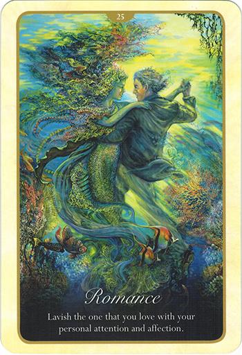 Ý nghĩa lá 25. Romance trong bộ bài Whispers of Love Oracle Cards