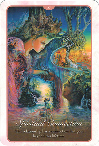 Ý nghĩa lá 27. Spiritual Connection trong bộ bài Whispers of Love Oracle Cards