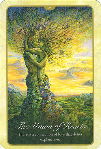 Ý nghĩa lá 28. The Union Of Heart trong bộ bài Whispers of Love Oracle Cards