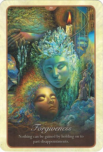 Ý nghĩa lá 29. Forgiveness trong bộ bài Whispers of Love Oracle Cards