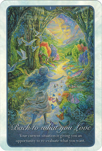 Ý nghĩa lá 3. Back To What You Love trong bộ bài Whispers of Love Oracle Cards