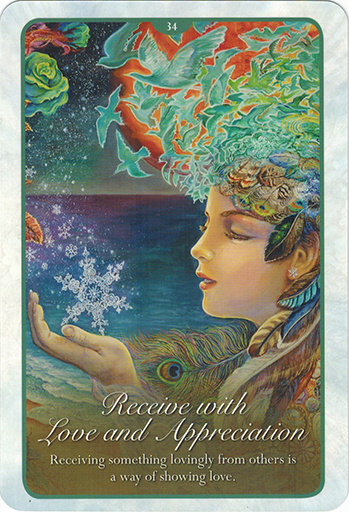 Ý nghĩa lá 34. Receive With Love And Appreciation trong bộ bài Whispers of Love Oracle Cards