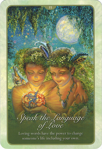 Ý nghĩa lá 35. Speak With The Language Of Love trong bộ bài Whispers of Love Oracle Cards