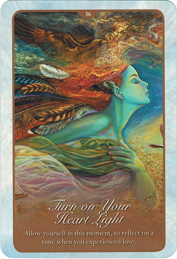 Ý nghĩa lá 36. Turn On Your Heart Light trong bộ bài Whispers of Love Oracle Cards