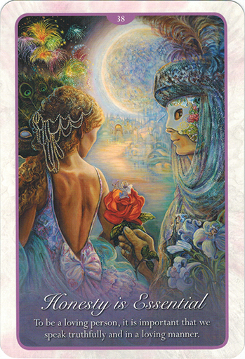 Ý nghĩa lá 38. Honestly Is Essential trong bộ bài Whispers of Love Oracle Cards