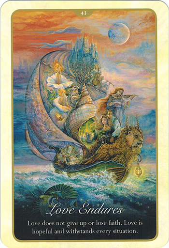 Lá 43. Love Endures – Whispers of Love Oracle Cards