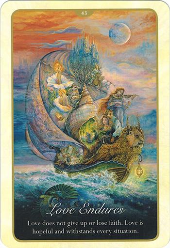 Ý nghĩa Lá 43. Love Endures trong bộ bài Whispers of Love Oracle Cards