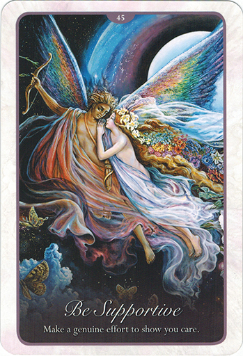 Ý Nghĩa Lá 45. Be Supportive trong bộ bài Whispers of Love Oracle Cards