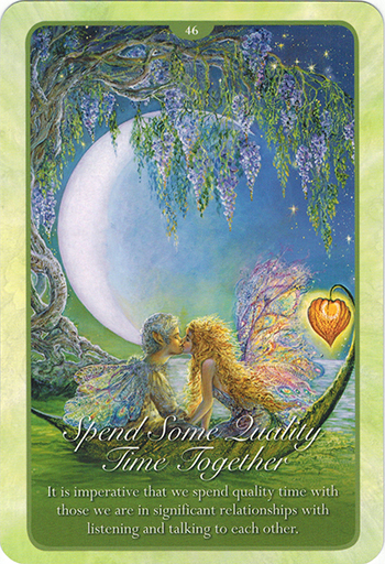 Ý nghĩa 46. Spend Some Quality Time Together trong bộ bài Whispers of Love Oracle Cards