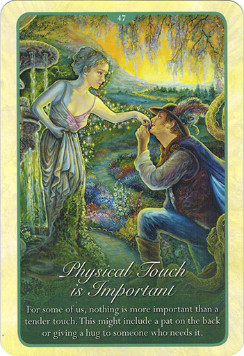 Ý nghĩa Lá 47 Physical Touch Is Important trong bộ bài Whispers of Love Oracle Cards