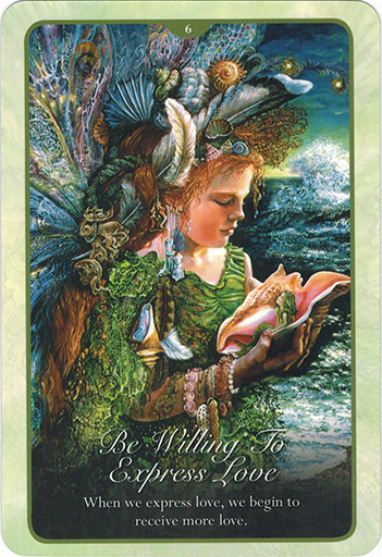 Ý nghĩa lá 6. Be Willing To Express Love trong bộ bài Whispers of Love Oracle Cards