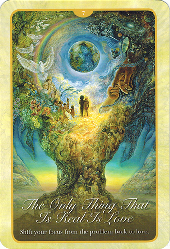 Ý nghĩa lá 7. The Only Thing That Is Real Is Love trong bộ bài Whispers of Love Oracle Cards