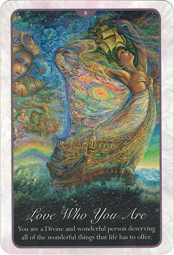 Ý nghĩa lá 8. Love Who You Are trong bộ bài Whispers of Love Oracle Cards
