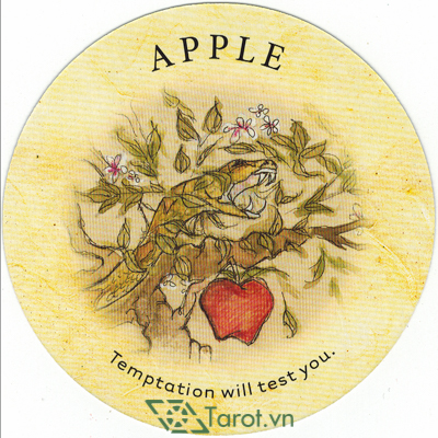 Ý nghĩa lá Apple trong bộ bài Tea Leaf Fortune Cards