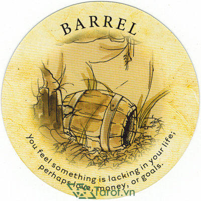 Ý nghĩa lá Barrel trong bộ bài Tea Leaf Fortune Cards