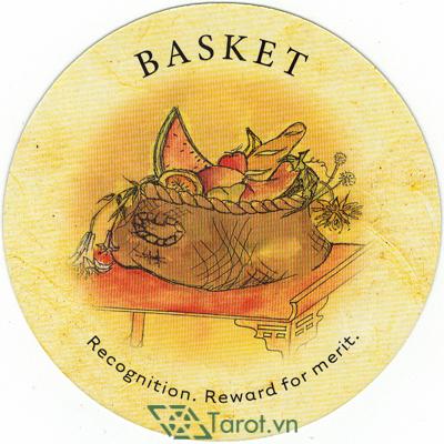 Ý nghĩa lá Basket trong bộ bài Tea Leaf Fortune Cards